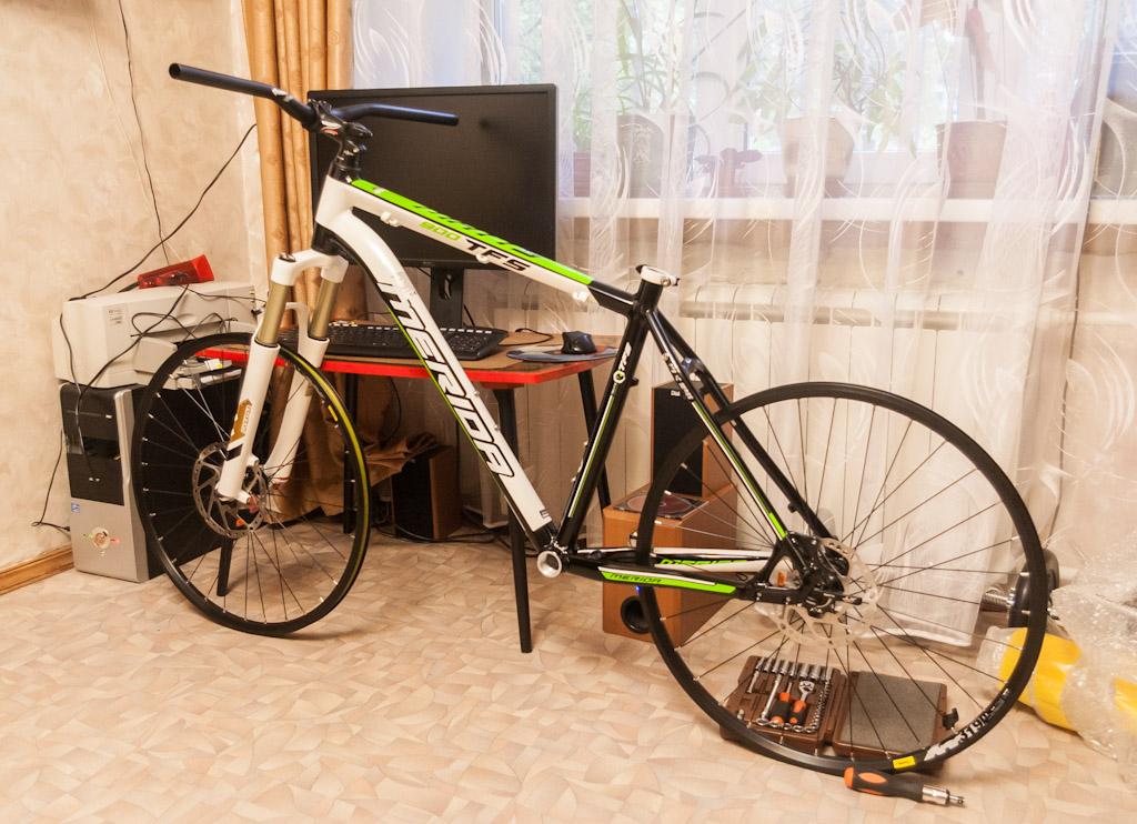 велосипед при сборке